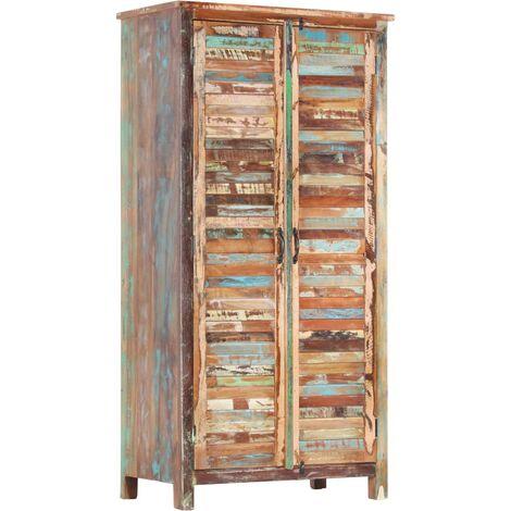 vidaXL Wardrobe 90x50x180 cm Solid Reclaimed Wood - Brown