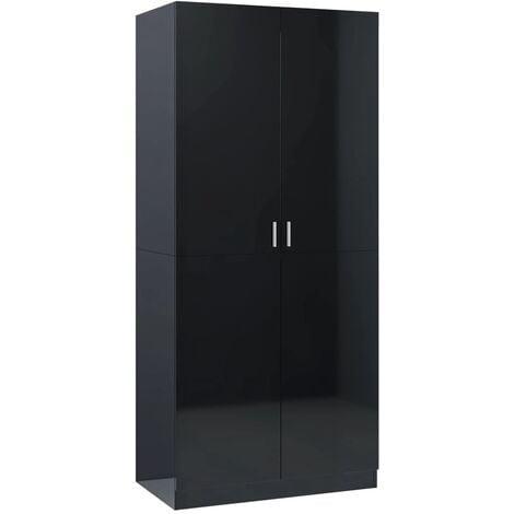 vidaXL Wardrobe 90x52x200 cm Chipboard Living Room Bedroom Clothing Cabinet Hanger Storage Shelf Organiser Home Furniture Multi Colours