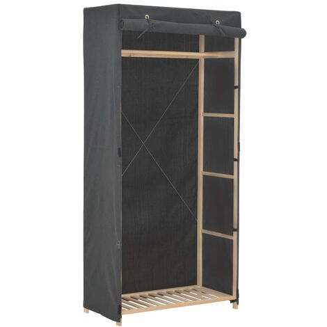 vidaXL Wardrobe Basement Bedroom Attic Garment Closet Clothes Storage Cabinet Organiser Cupboard Rack Furniture Fabric Multi Colours