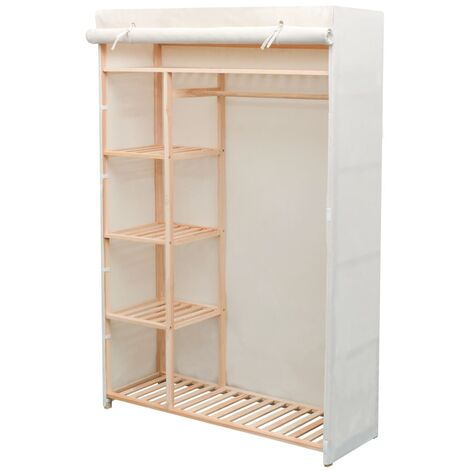 vidaXL Wardrobe Basement Bedroom Attic Garment Closet Clothes Storage Cabinet Organiser Cupboard Rack Furniture Fabric Multi Colours