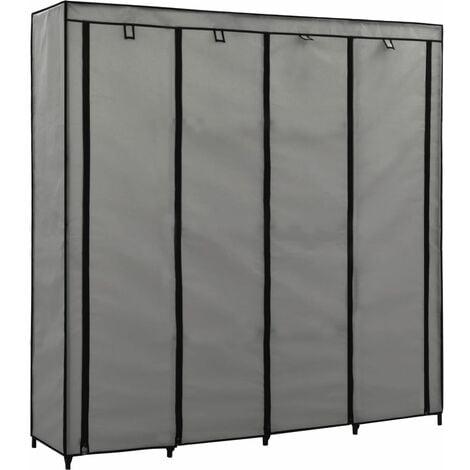 vidaXL Wardrobe with 4 Compartments 175x45x170 cm Bedroom Garment Closet Clothes Storage Cabinet Organiser Furniture Multi Colours