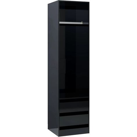 vidaXL Wardrobe with Drawers Clothing Cabinets Shelves Hangers Open Wardrobes Home Units Storage Closet Living Room Chipboard Multi Colours