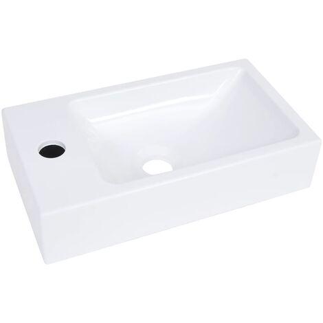 vidaXL Wash Basin 400x220x90 mm SMC White - White