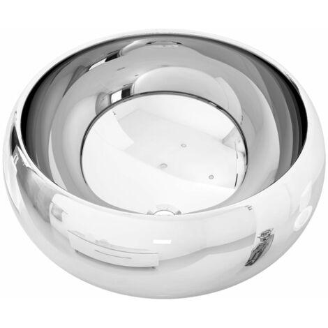"main image of ""vidaXL Wash Basin 40x15 cm Ceramic Silver - Silver"""