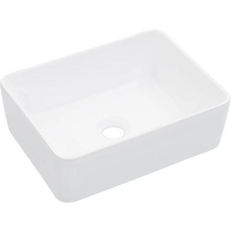 Wash Basin 40x30x13 cm Ceramic White