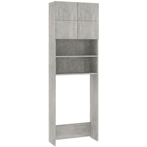 vidaXL Washing Machine Cabinet Concrete Grey 64x25.5x190 cm Chipboard - Grey