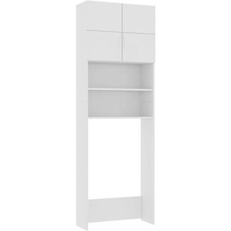 vidaXL Washing Machine Cabinet White 64x25.5x190 cm Chipboard - White