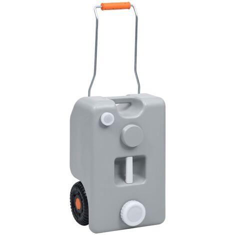 vidaXL Wheeled Water Tank for Camping 25 L Grey - Grey