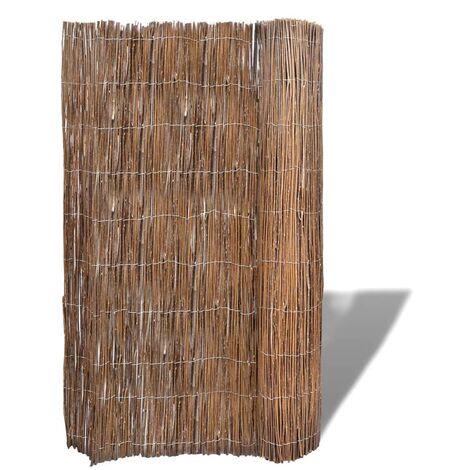 vidaXL Willow Fence 300x100 cm - Brown