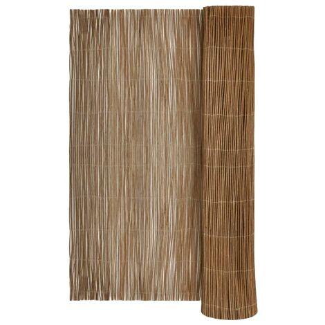 vidaXL Willow Fence 300x150 cm - Brown