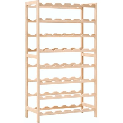 vidaXL Wine Rack Cedar Wood 57.5x28x102 cm - Brown