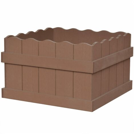 vidaXL WPC Garden Planter Brown Plant Box Bed Flower Pot70x25x25cm/40x40x25cm