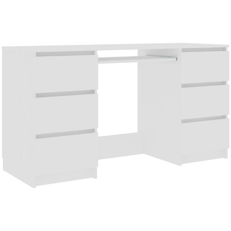 vidaXL Writing Desk with Drawers Durable Home Garden Office Furniture Computer Study Table Laptop Workstation 140cm Chipboard Multi Colours