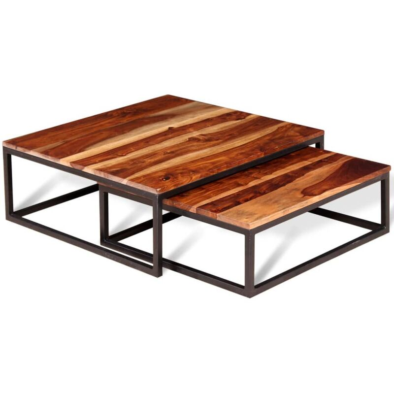 Couchtisch-Set 2-tlg. Massivholz