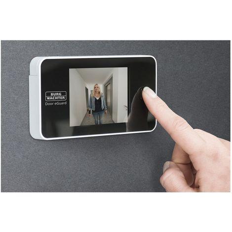 Video-Türspion Door eGuard DG 8100, Weitwinkel 105°, Kunststoff schwarz/weiß