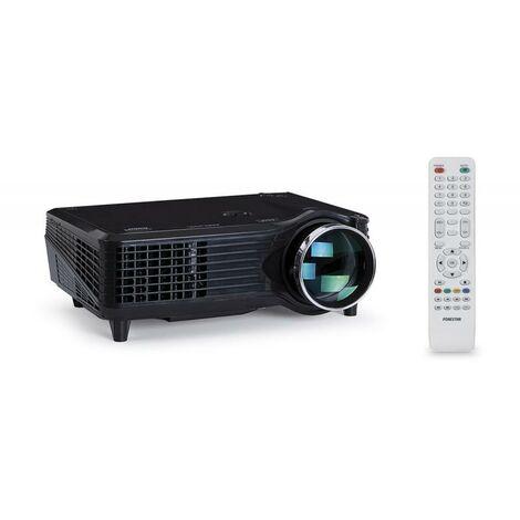 VideoProyector LED Fonestar de 1500 Lm VGA - HDMI - USB Reproductor, soporta 1080P, enfoque manual