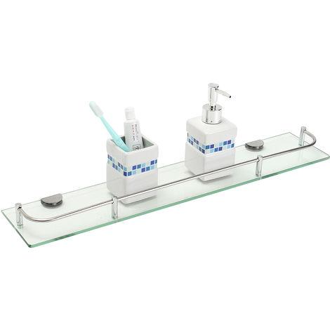 Vidrio Estante Canasta Almacenamiento en pared Soporte de baño Ducha Almacenamiento LAVENTE
