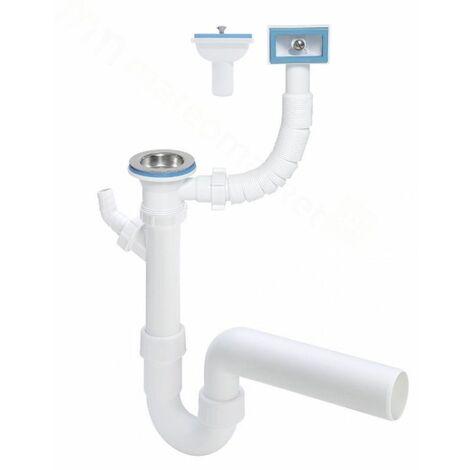 Viega Ablaufventil Siphon Siebkörbchen mit Überlauf DN 70 Sifon Spülbecken