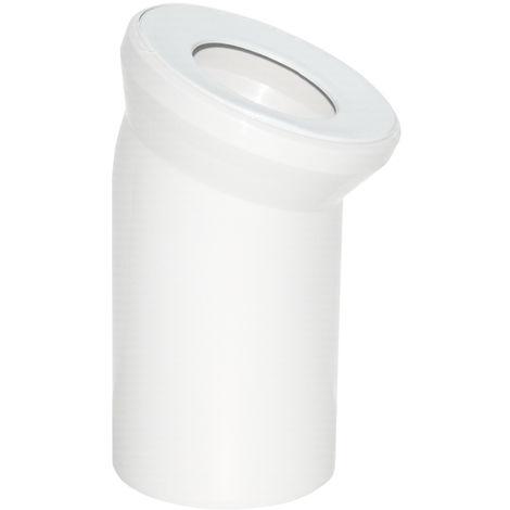 Viega WC Anschlussbogen DN 100 x 150mm 22,5 Grad Kunststoff weiß