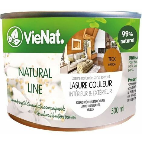 VIENAT Lasure naturelle satin - 0,5 L - Teck
