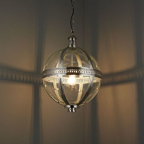 Vienna ContEMporary Ceiling Pendant Light 40W - Bright Nickel Plated Brass