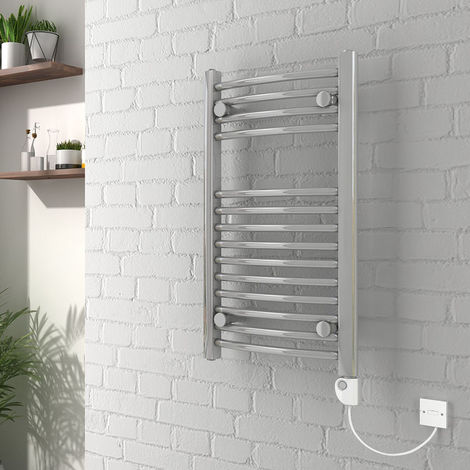 Vienna Electric Curved Chrome Towel Rail