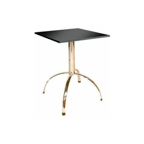 Vienza Quality Compact Square Black Kitchen Dining Table