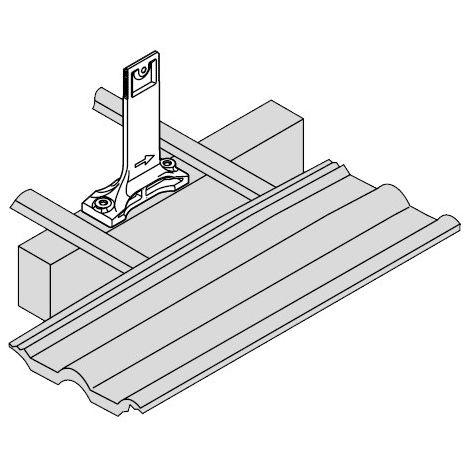 Viessmann Befestigungssystem Sparrenanker (universal), Montageschienen