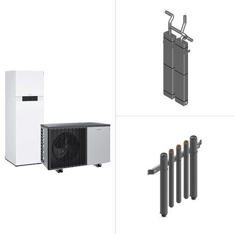 Viessmann Vitocal 222-A, Luft-Wärmepumpe in Monoblock-Ausführung, Vitocell 100-E