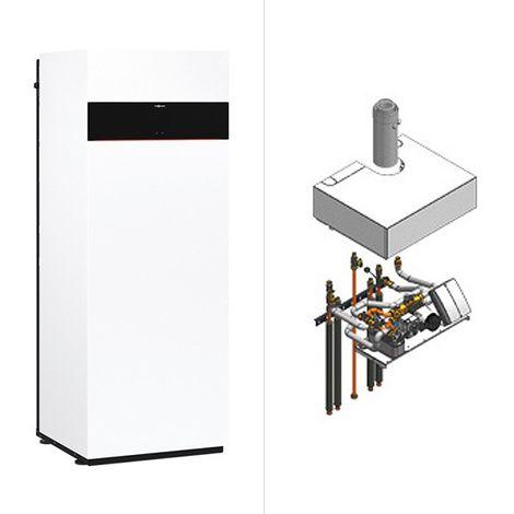 Viessmann Vitodens 222-F, Gas-Brennwert-Kompakttherme, Ladespeicher, Aufbau-Kit