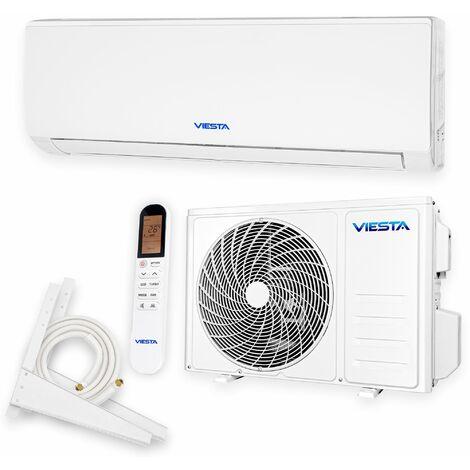 VIESTA 09SM Acondicionador de aire split conjunto completo con oro titanio 9000 BTU 2,6kW R32 A++ WiFi Ready sistema de climatización con accesorios