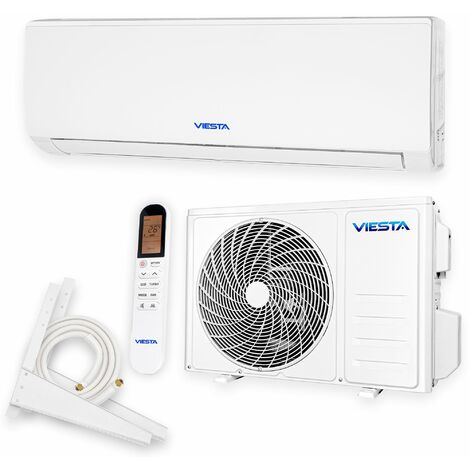 VIESTA 09SM Climatiseur split conditionneur d'air split ensemble complet 9000 BTU 2,6kW R32 A++ WiFi prêt