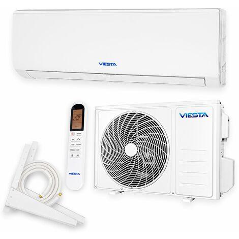 VIESTA 09SQ Climatiseur split conditionneur d'air split ensemble complet avec raccord rapide or titane 9000 BTU 2,6kW R32 A++ WiFi ready