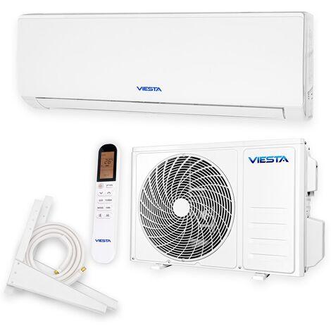 VIESTA 12SQ Climatiseur split conditionneur d'air split ensemble complet avec raccord rapide 12000 BTU 3,4kW R32 A++ WiFi prêt