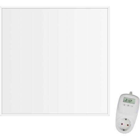 Viesta CF360 60x60cm Panel Radiador de infrarrojos para techos Carbon Crystal (última tecnología) Calefacción ultradelgado Blanco - 360 W + Viesta Termostato TH10