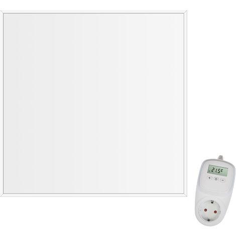 Viesta CF360 62x62cm Panel Radiador de infrarrojos para techos Carbon Crystal (última tecnología) Calefacción ultradelgado Blanco - 360 W + Viesta Termostato TH10