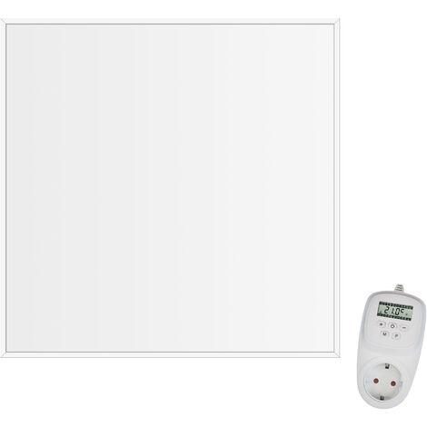 Viesta CF360 62x62cm Panel Radiador de infrarrojos para techos Carbon Crystal (última tecnología) Calefacción ultradelgado Blanco - 360 W + Viesta Termostato TH12
