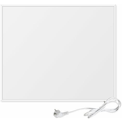 Viesta F300 panneau de chauffage infrarouge Crystal Carbon (dernière technologie) panneau radiateur ultra mince chauffage mural blanc - 300 Watt