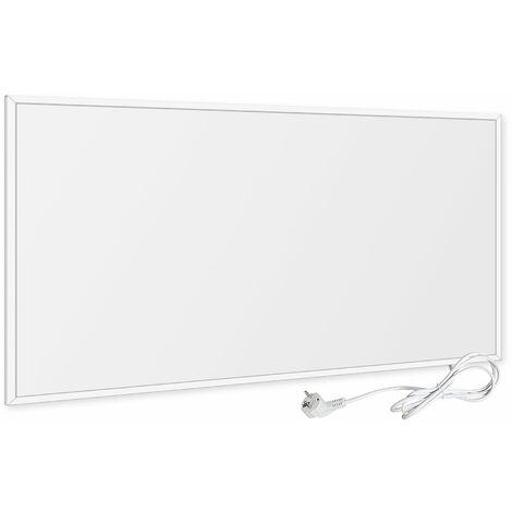 VIESTA F450 Heizpaneel infrarot Infrarotheizung Wandheizung elektrisch, ultraflache Heizplatte, Carbon Crystal, 450W, Weiß