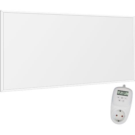 Viesta F600 Panel Radiador de infrarrojos Carbon Crystal (última tecnología) Calefacción ultradelgado Blanco de 600W + Viesta Termostato TH12