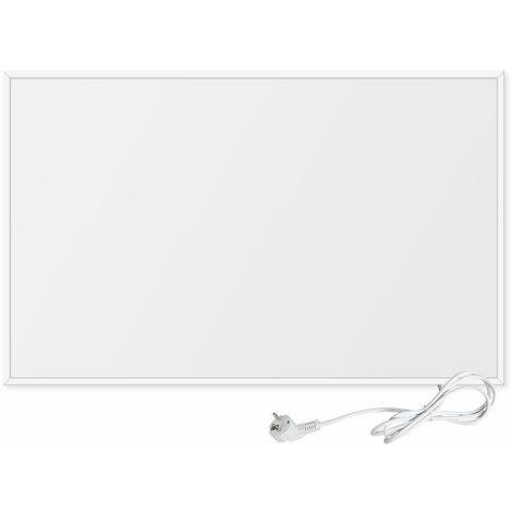 Viesta F600 panneau de chauffage infrarouge Crystal Carbon (dernière technologie) panneau radiateur ultra mince chauffage mural blanc - 600 watts