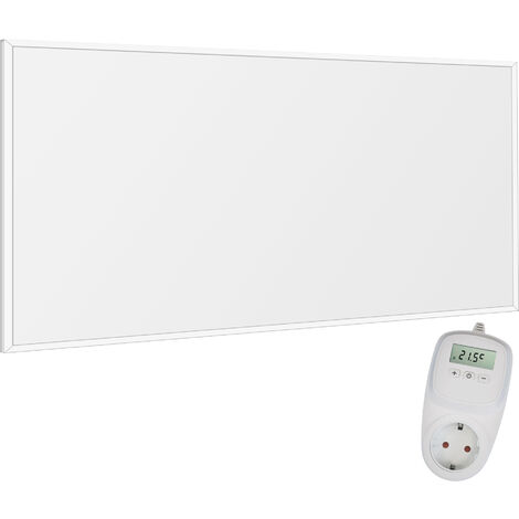 Viesta F700 Panel Radiador de infrarrojos Carbon Crystal (última tecnología) Calefacción ultradelgado Blanco de 700W + Viesta Termostato TH10