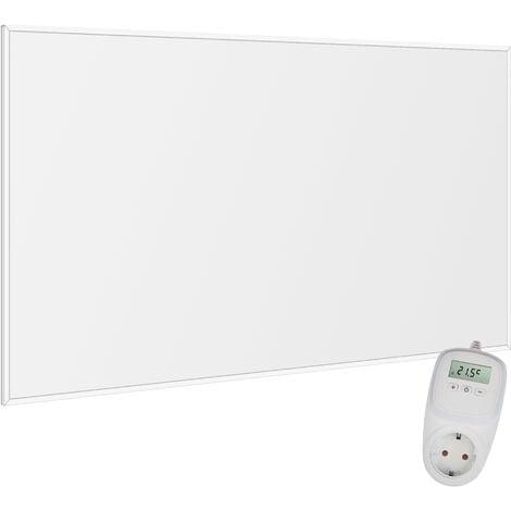 Viesta F780 Panel Radiador de infrarrojos Carbon Crystal (última tecnología) Calefacción ultradelgado Blanco de 780W + Viesta Termostato TH10