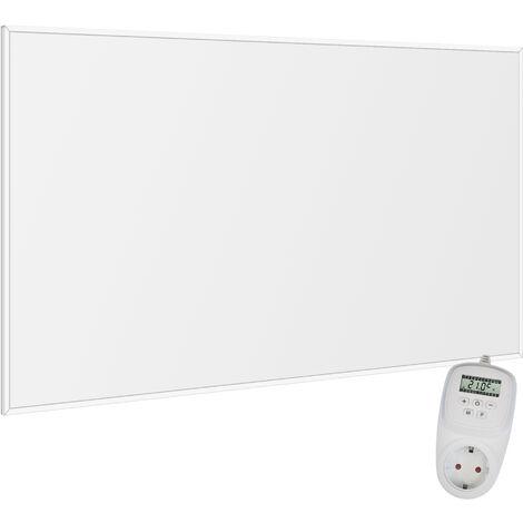 Viesta F780 Panel Radiador de infrarrojos Carbon Crystal (última tecnología) Calefacción ultradelgado Blanco de 780W + Viesta Termostato TH12