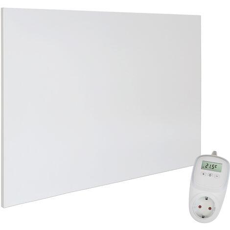 Viesta H1200 Panel Radiador de infrarrojos Carbon Crystal (última tecnología) Calefacción ultradelgado Blanco de 1200W + Viesta Termostato TH10