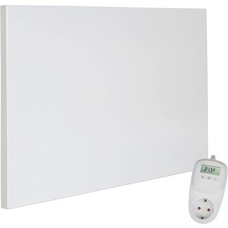 Viesta H300 Panel Radiador de infrarrojos Carbon Crystal (última tecnología) Calefacción ultradelgado Blanco de 300W + Viesta Termostato TH10