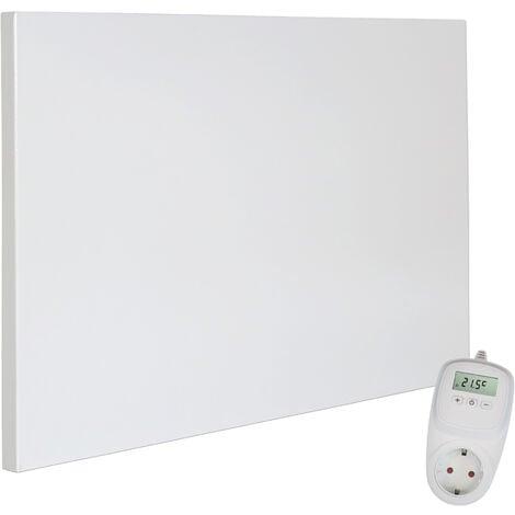 Viesta H300 panneau de chauffage infrarouge Crystal Carbon (dernière technologie) panneau radiateur ultra mince chauffage mural blanc - 300 watts + Viesta TH10 Thermostat