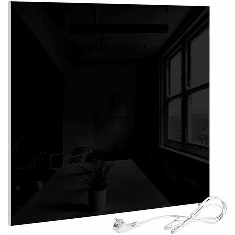 VIESTA H320-GS Glas Infrarotheizung 320 Watt, schwarz, mit Ein-Ausschalter - Heizpaneel mit höchstem Wirkungsgrad dank Carbon Crystal Technologie - flache Glasheizung aus Sicherheitsglas - Elektroheizung mit Überhitzungsschutz