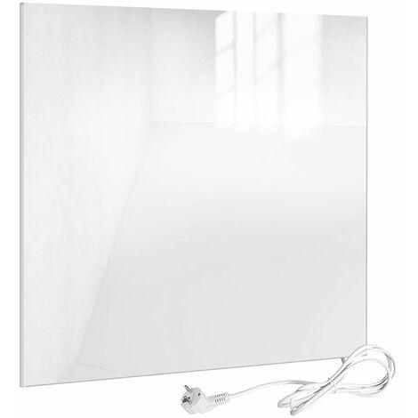 Viesta H320-GW Glas Infrarotheizung 320 W, weiß, mit Ein-Ausschalter - Heizpaneel mit höchstem Wirkungsgrad dank Carbon Crystal Technologie - flache Glasheizung aus Sicherheitsglas - Elektroheizung mit Überhitzungsschutz