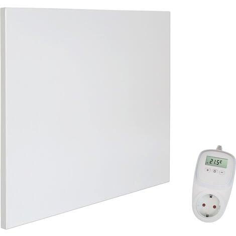 Viesta H400 Panel Radiador de infrarrojos Carbon Crystal (última tecnología) Calefacción ultradelgado Blanco de 400W + Viesta Termostato TH10